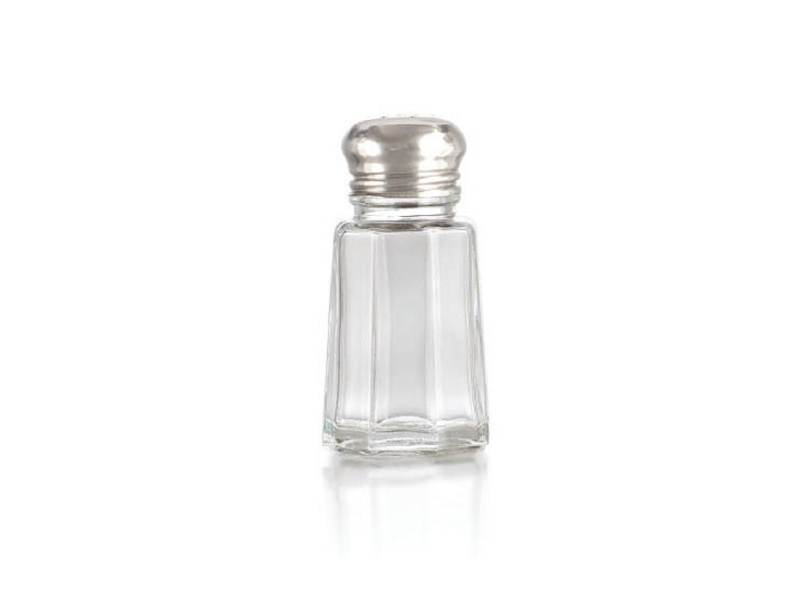 Salero de vidrio c/tapa metal 35 ml. Crisa