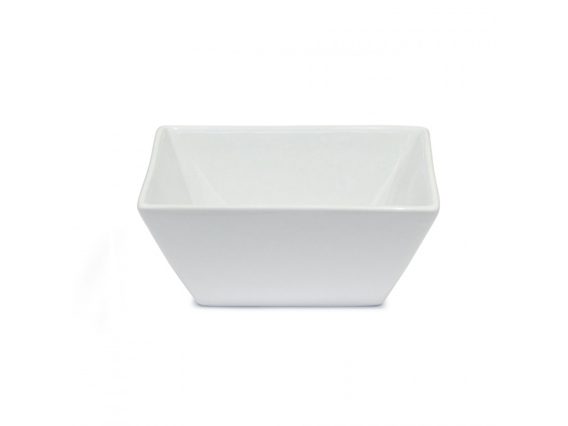 Bowl cuadrado 14x14 cm Cerámica Blanca