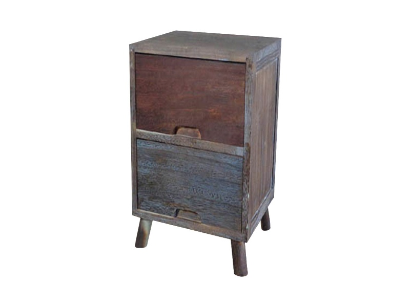 Mueble Auxiliar Madera 2 cajones 35 x 28 x 45 cm.