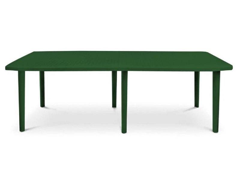 Mesa Rectangular desmontable Verde Laja.