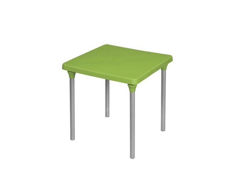 Mesa Cuadrarda Classic desmontable verde.