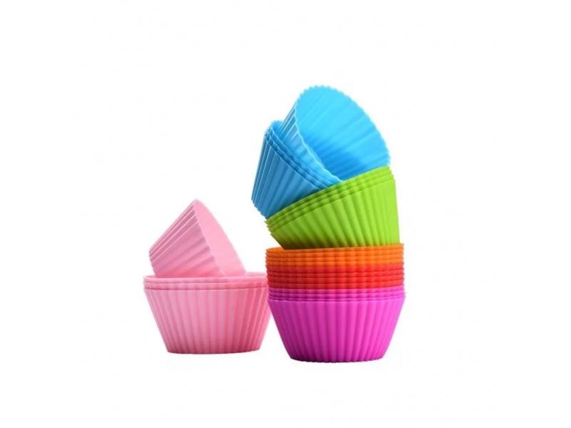Molde Cupcakes Silicona 7 x 3 cm 12 unidades