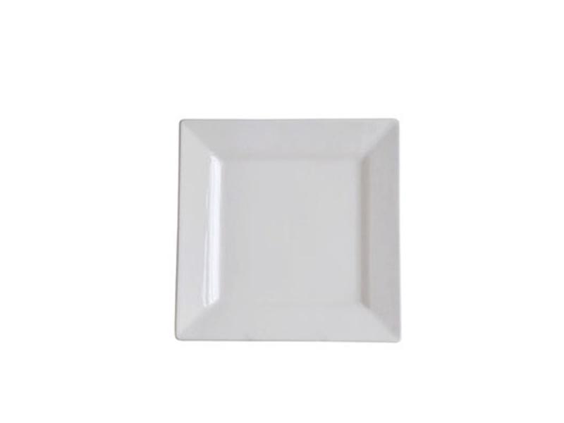 Plato cuadrado cerámica blanca 26.5 cm. Selecta.