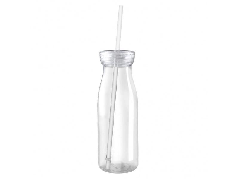 Botella plástica 500 ml cuerpo y tapa transparente.