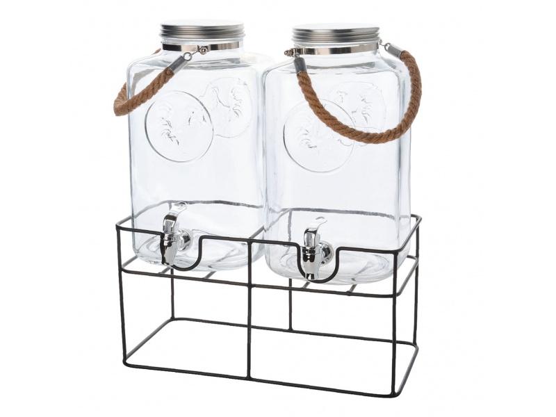 Dispensador doble de vidrio 6ltrs.