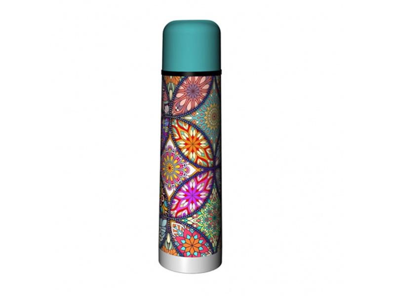 Termo Bala 750 ml Acero Inoxidable Mandala Colores