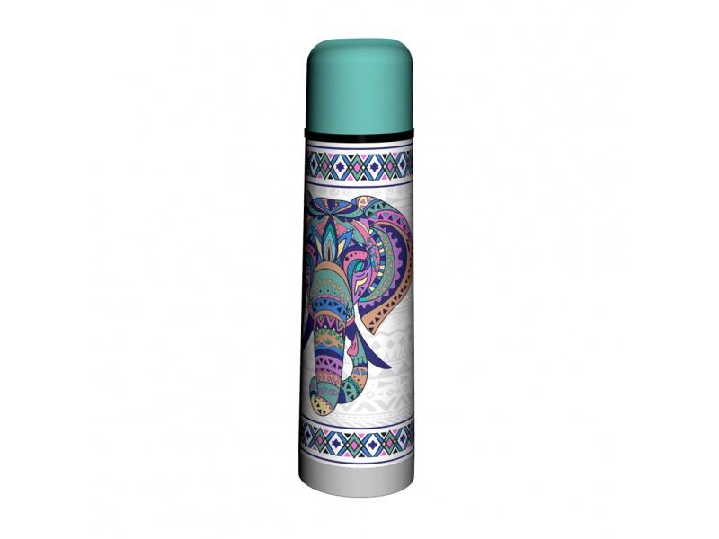 Termo Bala 750 ml Acero Inoxidable elefante étnico