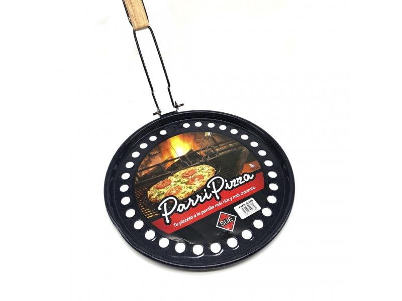 Asadera pizza parrilla Sue esmaltado con mango Ø34 cm.