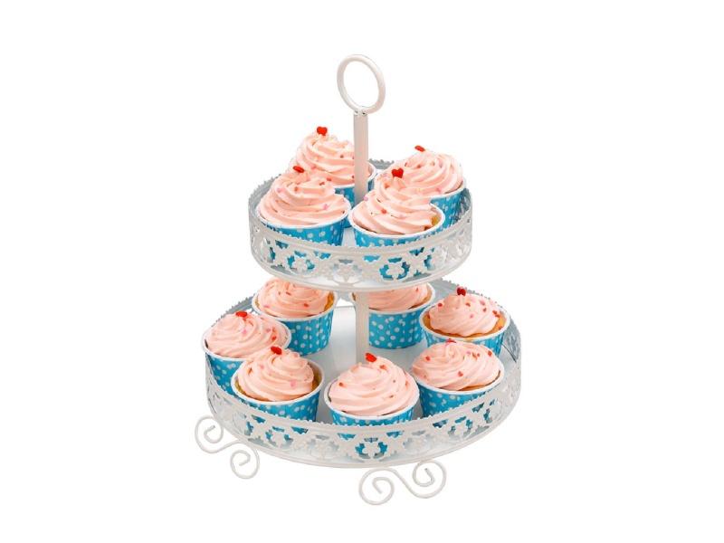 Soporte para cupcakes D24 / H 31 cm. metal.