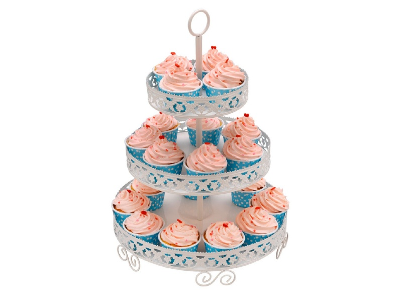 Soporte cupcakes metal D30 H42cm