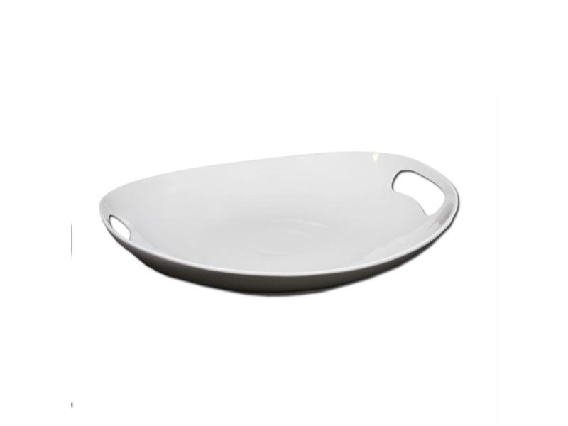 Fuente oval 36 x 34 cm con asa. Goldsky