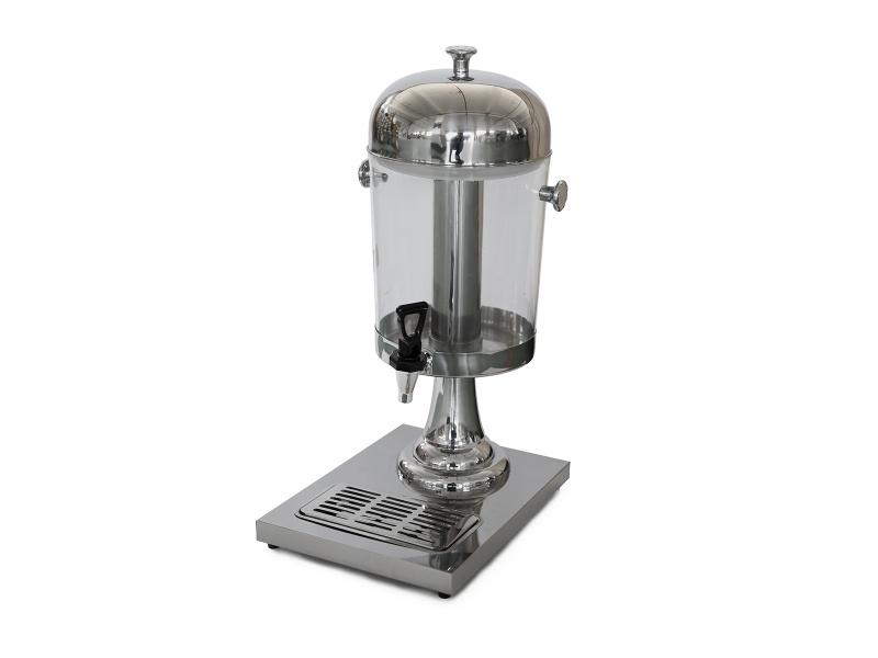 Dispensador de jugo 8 lts. acrilico y acero inox Goldsky