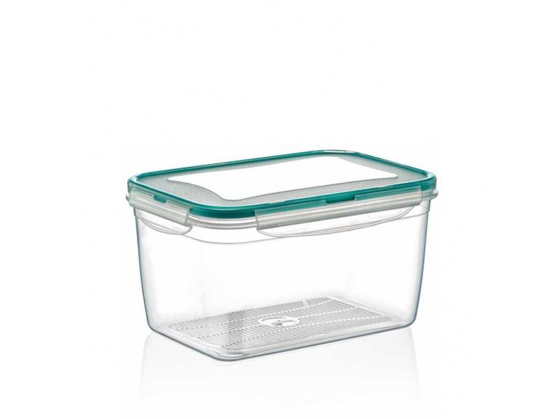 Tupper recipiente plástico 2.4 lts con cierres