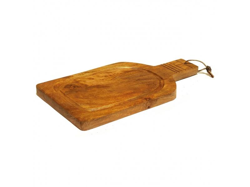 Tabla de madera rectangular 38 x 20 x 2.5 cm.