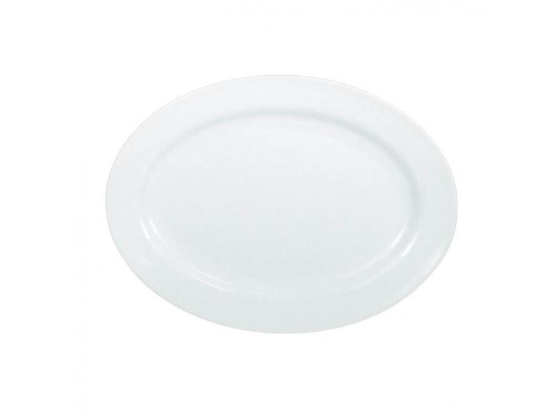Fuente oval melamina blanco 35 x 26 cm.