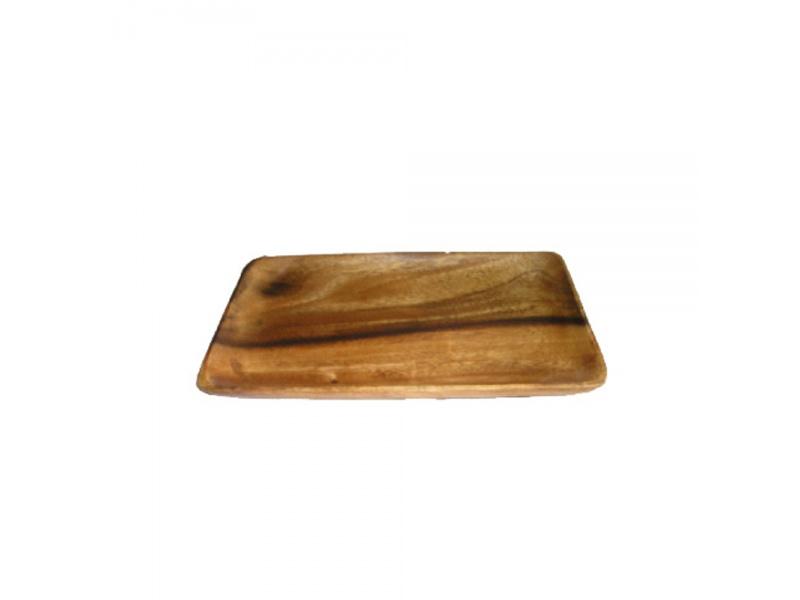 Bandeja rectangular madera 30 x 15 x 4 cm.