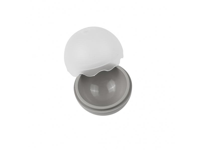 Esfera molde para hielo silicona gris set x 2 unid.