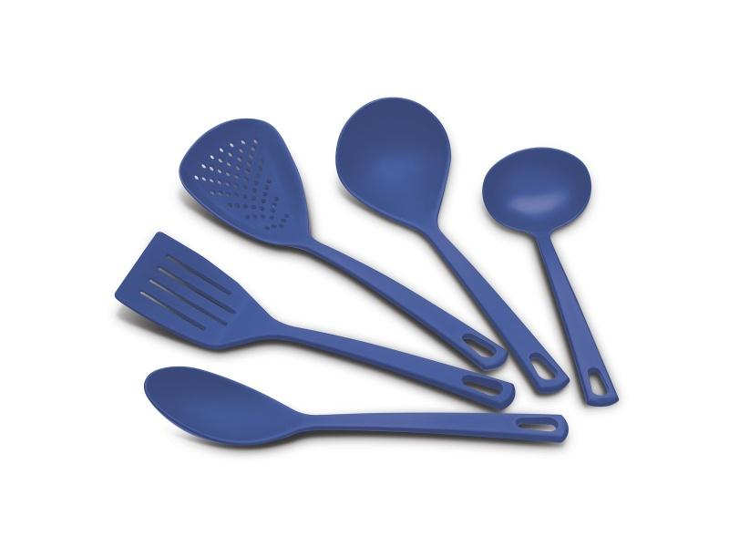 Juego de utensillios 5 pzas para teflón Utilita azul Tramontina