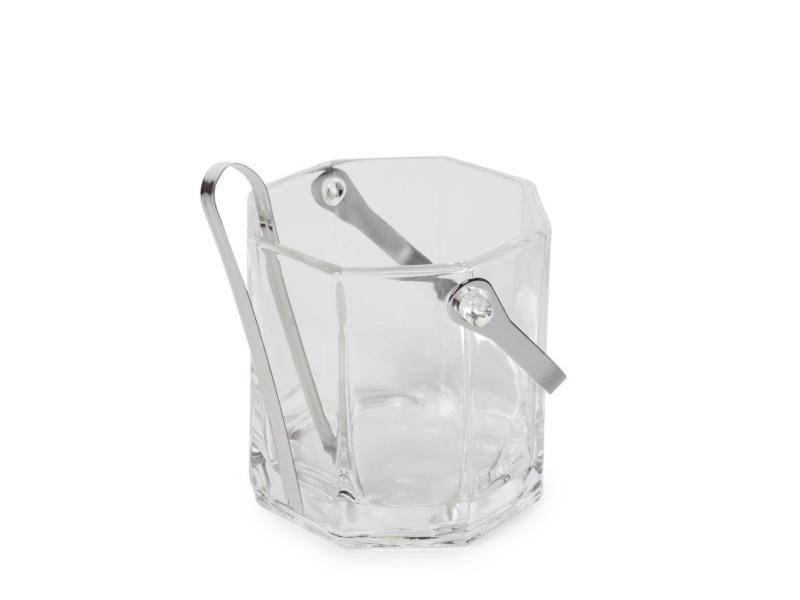 Hielera de vidrio con pinza 11.5 x 12 cm