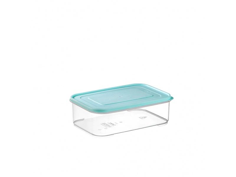 Tupper recipiente hermetico transparente 1.3 ltrs tapa color