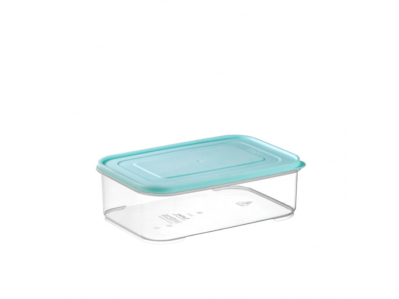 Tupper recipiente hermetico trasparente 2.1 ltrs tapa color