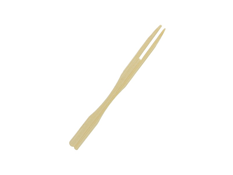 Tenedor pincho bamboo 9 cm 80 unid. para copetin goldsky