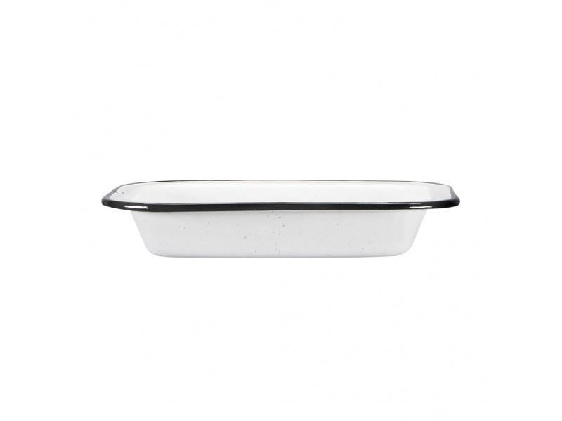 Asadera Acero Vitrificdo 26 cm Blanco Cinsa