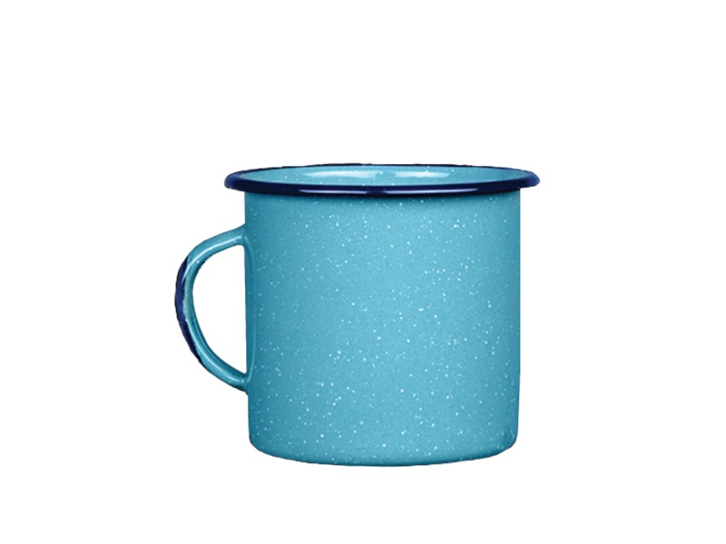 Taza jarro mug esmaltado turquesa 360 ml Cinsa
