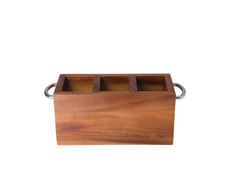Cubiertera 3 divisiones madera 29 x 13 x 11 cm