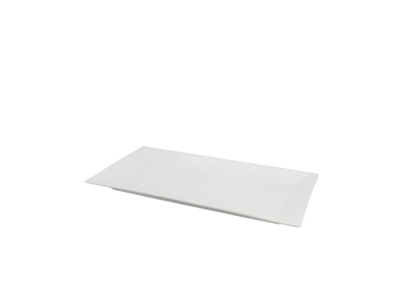 Fuente rectangular cerámica blanca 36 x 20 x 2 cm