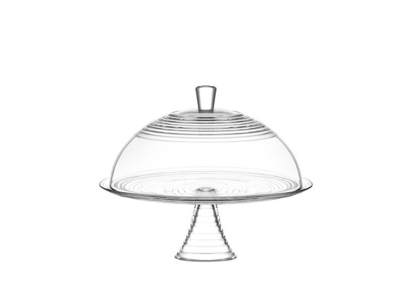 Plato para torta con cúpula vidrio Ø 35 cm