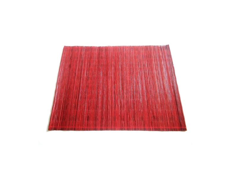 Individual rojo fibras naturales 35 x 45 cm
