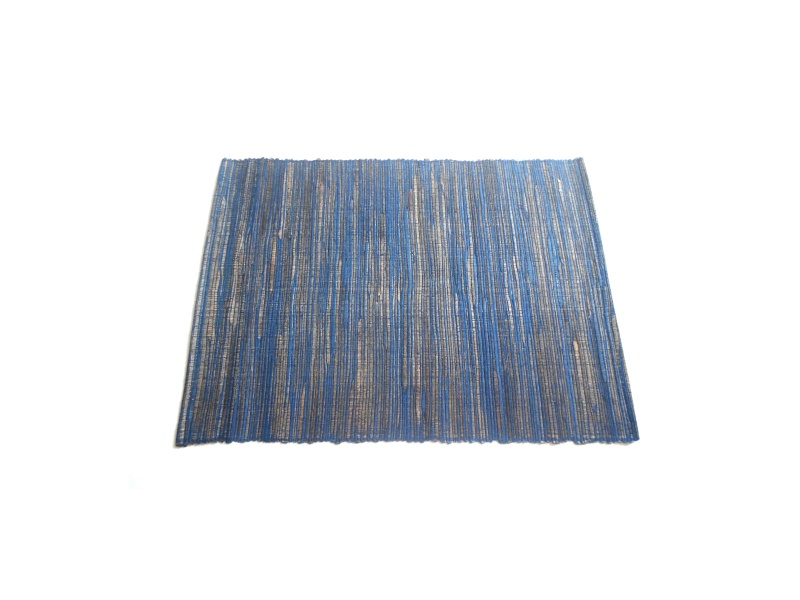Mantel individual azul fibras naturales 35 x 45 cm
