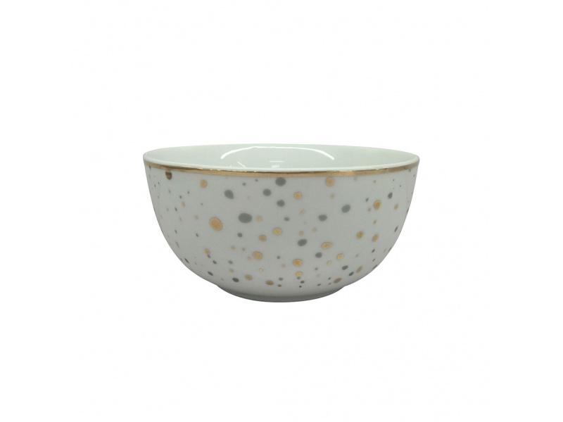 Bowl Cerámica 14 cm Lunares Dorados