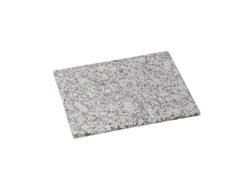 Tabla granito rectangular 30 x 20 x 1.5 cm blanco gris