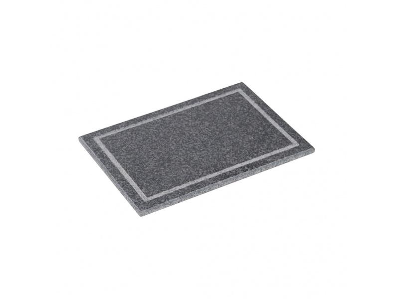 Tabla granito rectangular 35 x 25 x 1.5 cm negro