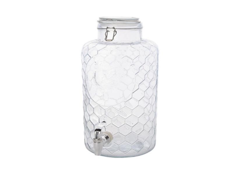 Dispensador de vidrio 8 ltrs. diseño gallo