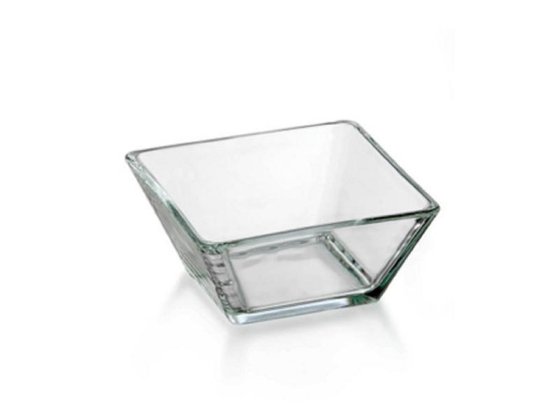 Bowls vidrio cuadrado 13.9 x 13.9 cm Tempo Crisa