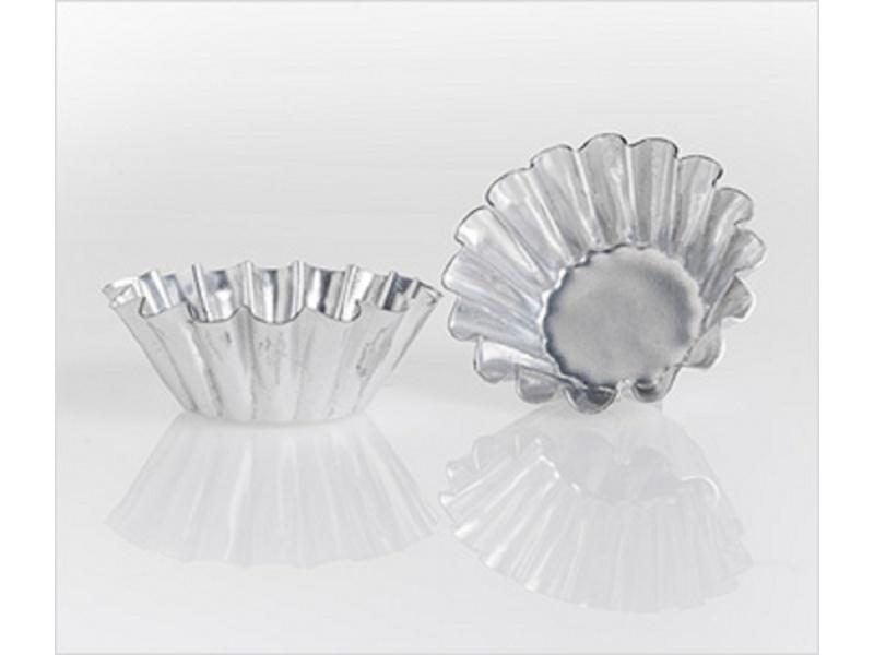 Molde tarteleta 4.5 x 1.5 cm chapa aluminizada.