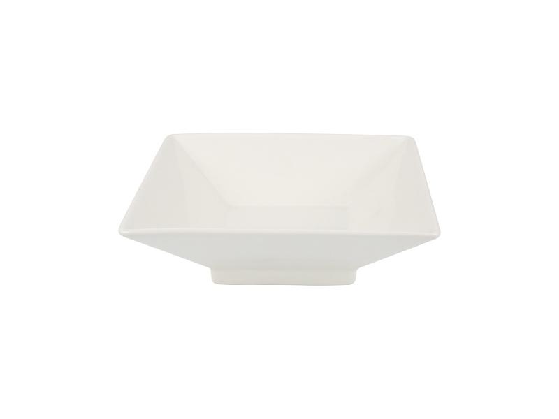Bowl Cuadrado 21 x 7 cm Ceramica Blanca Goldsky