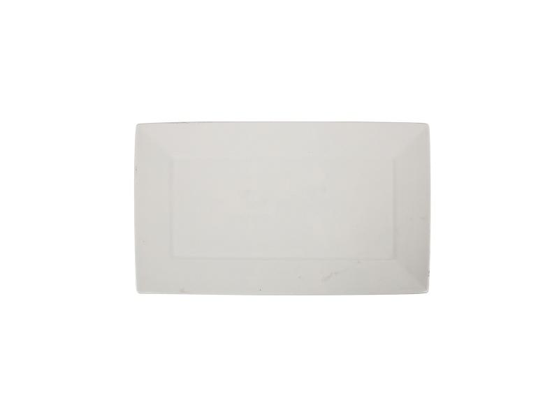Fuente Rectangular 30.3 x 17.4 cm Ceramica blanca Goldsky
