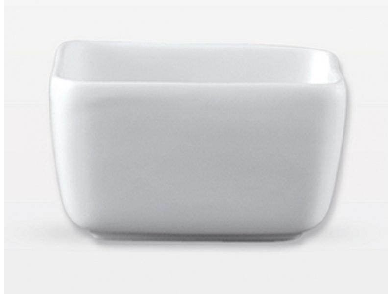Azucarero 8.8 x 6.2 cm p/Bolsitas Porcelana Blanca