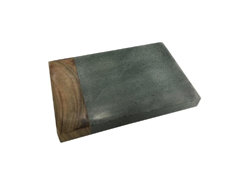 Jabonera 14 x 11.5 x 1.5 cm Madera y Marmol