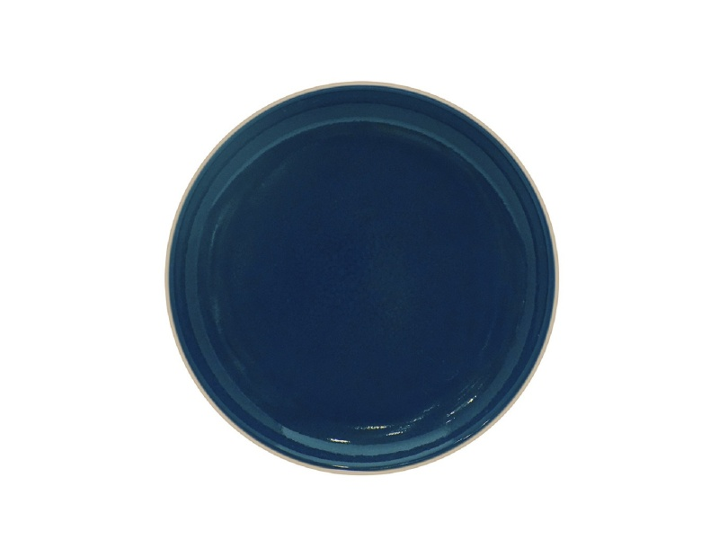 Plato De Postre 20 cm Cerámica Azul.