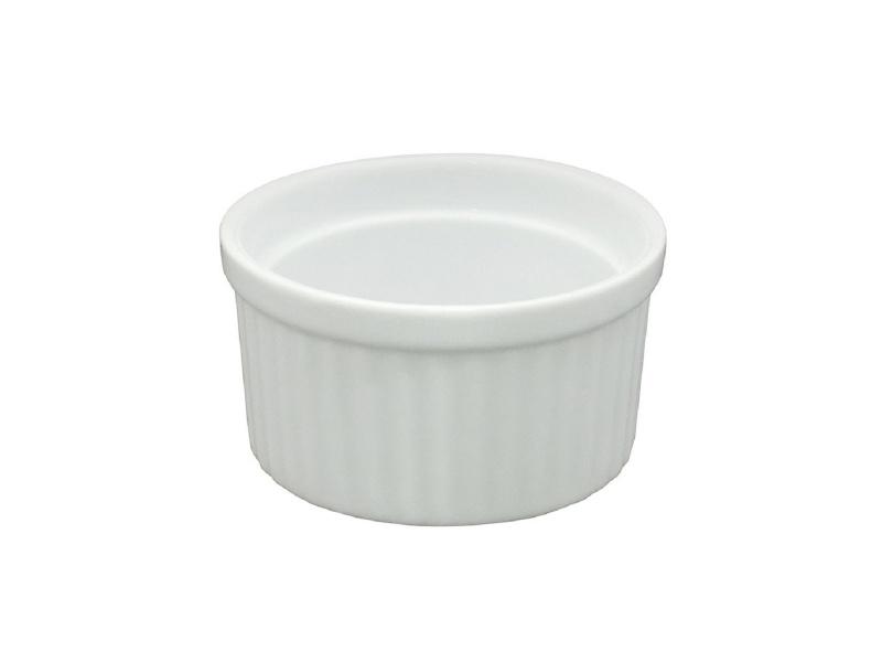 Ramequin D 9 cm. Cerámica Blanca.