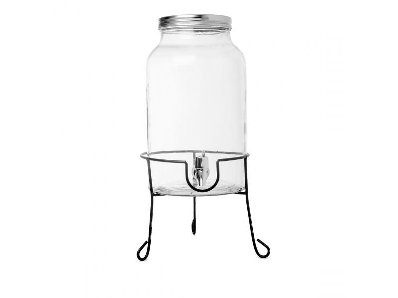 Dispensador De Jugo 6 litros Vidrio Con Soporte Goldsky