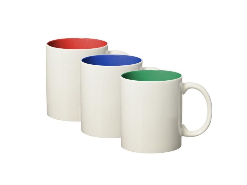 Taza Mug Porcelana 110 Ml Exterior Blanco e Interior Colores Surtidos