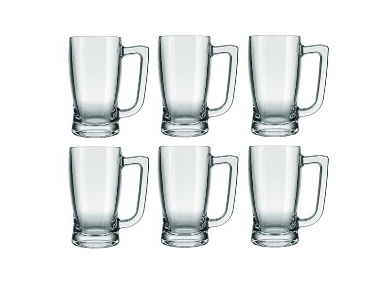 Jarra Vidrio Cerveza 600 Ml. Taberna kit x 6 unidades Goldsky