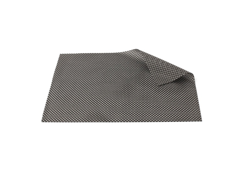 Mantel Individual PVC 45 x 30 cm Entramado gris/negro. Goldsky