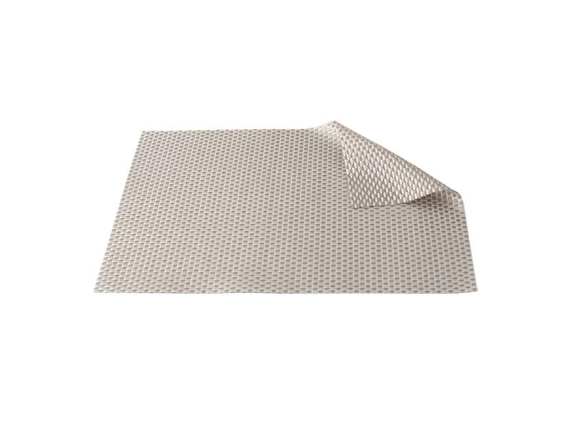 Mantel Individual PVC 45 x 30 cm. Entramado tonos Grises Goldsky
